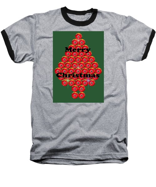 Holiday Tree Of Orbs 1 Baseball T-Shirt