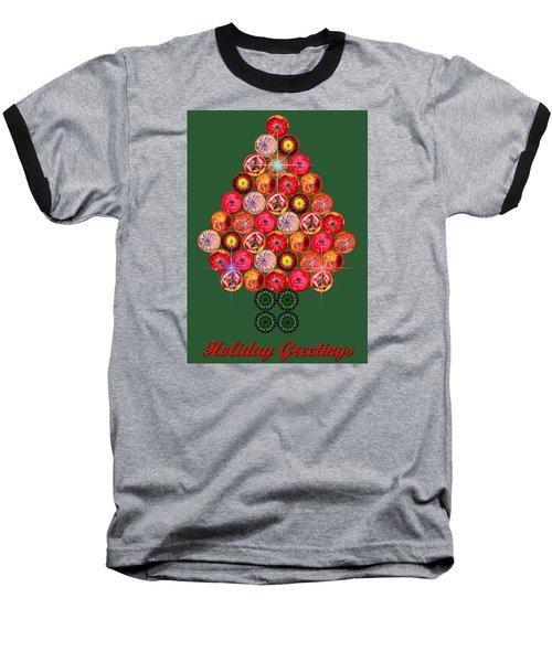 Holiday Tree Of Orbs 3 Baseball T-Shirt by Nick Kloepping