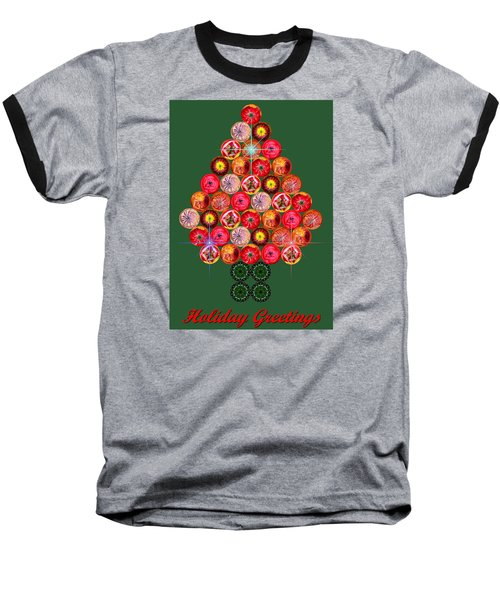 Holiday Tree Of Orbs 3 Baseball T-Shirt