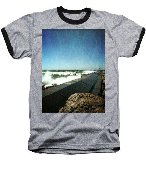 Holland Harbor Breakwater Baseball T-Shirt