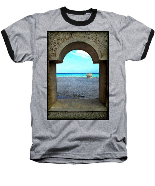Hollywood Beach Arch Baseball T-Shirt by Joan  Minchak