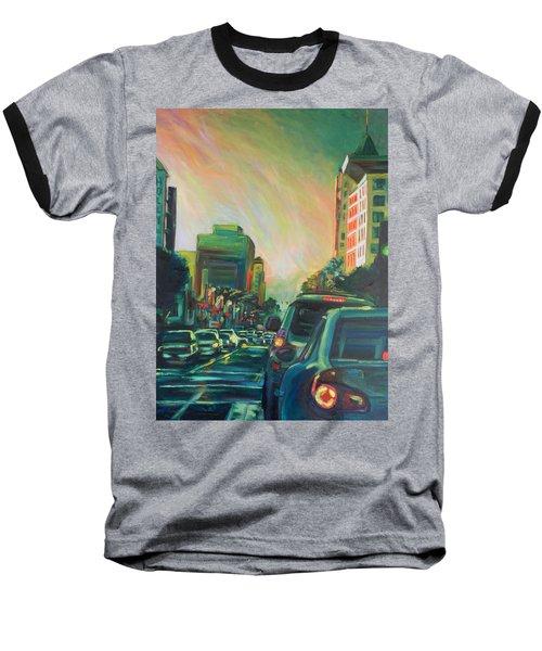 Hollywood Sunshower Baseball T-Shirt by Bonnie Lambert