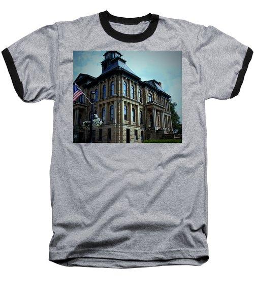 Holmes County Ohio Courthouse Baseball T-Shirt