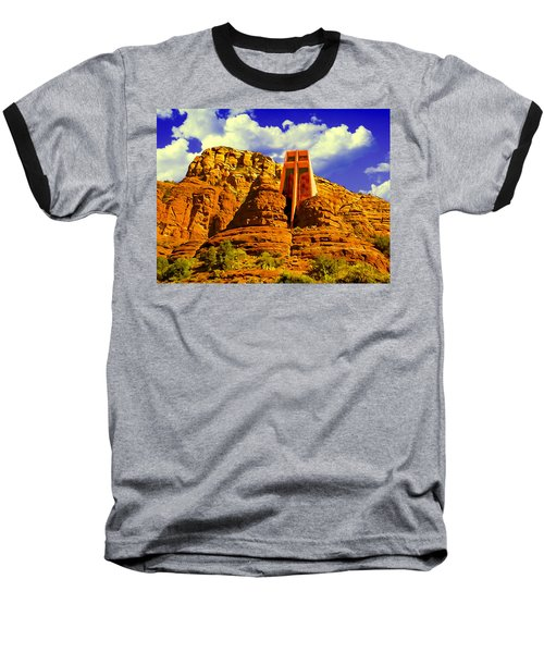 Holy Cross Chapel Coconino National Forest Baseball T-Shirt