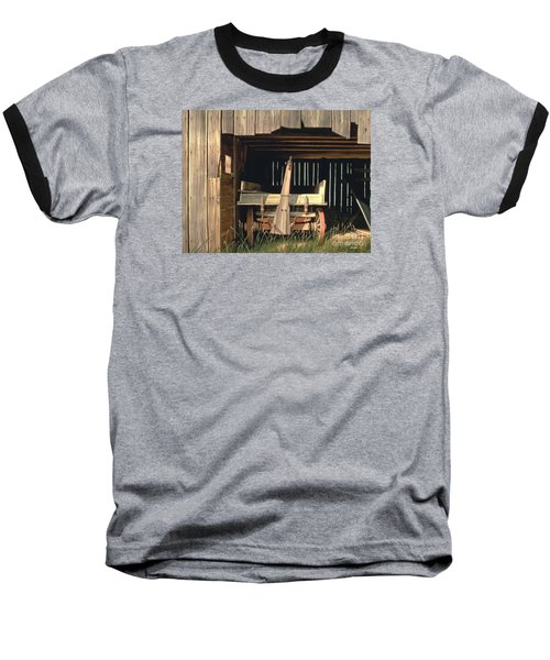 Baseball T-Shirt featuring the painting Misner's Wagon by Michael Swanson