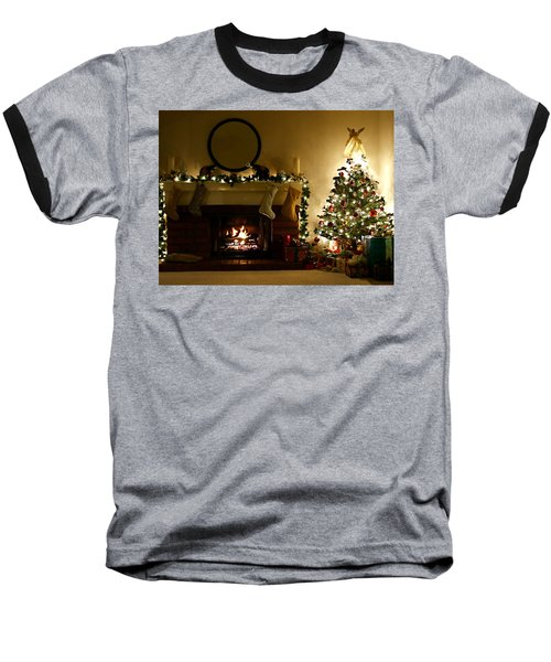 Home For The Holidays Baseball T-Shirt by Ellen Henneke