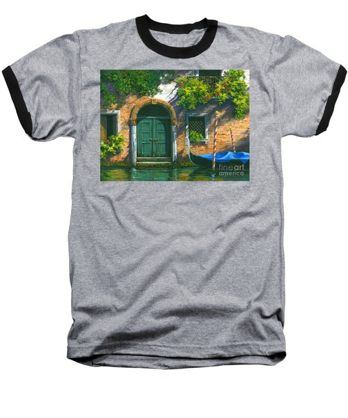 Baseball T-Shirt featuring the painting Home Is Where The Heart Is by Michael Swanson