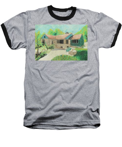 Baseball T-Shirt featuring the painting Home Sweet Home by Jeanne Fischer