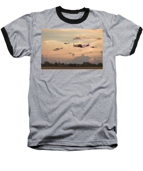 Home To Roost Baseball T-Shirt by Pat Speirs