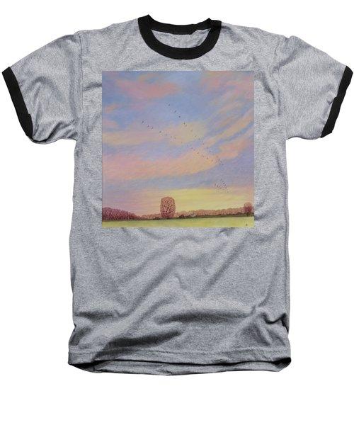 Homeward, 2004 Oil On Canvas Baseball T-Shirt by Ann Brain
