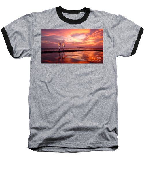 Honeymoon - A Heart In The Sky Baseball T-Shirt