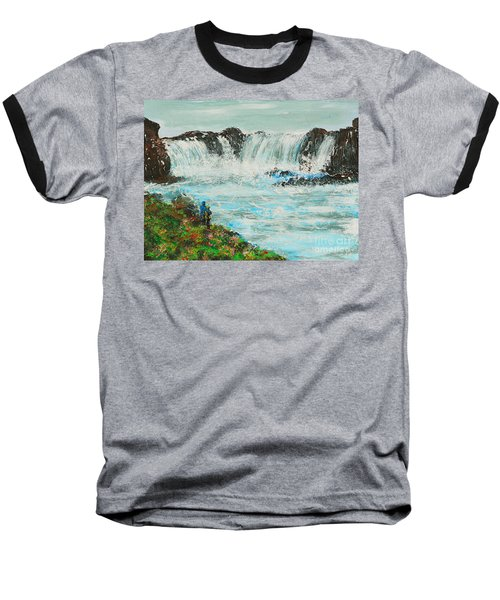 Honeymoon At Godafoss Baseball T-Shirt