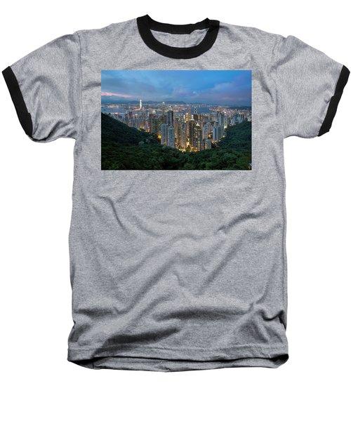 Hong Kong From Sky Terrace 428 At Victoria Peak Baseball T-Shirt
