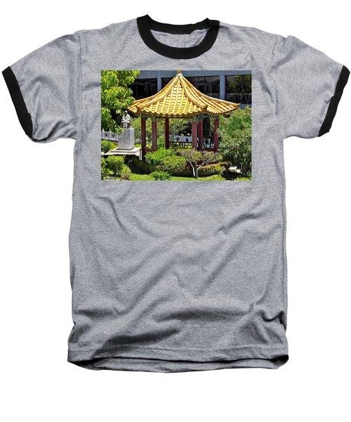 Honolulu Airport Chinese Cultural Garden Baseball T-Shirt