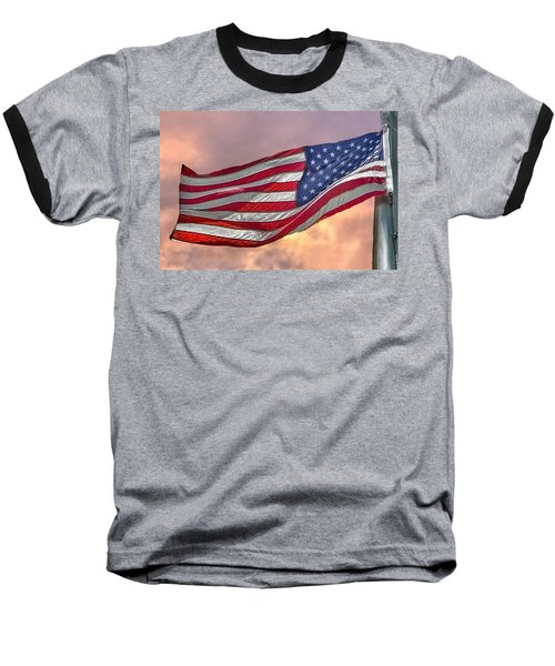 Baseball T-Shirt featuring the photograph Honoring The Heroes  by Charlotte Schafer