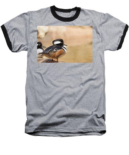 Hooded Merganser Baseball T-Shirt