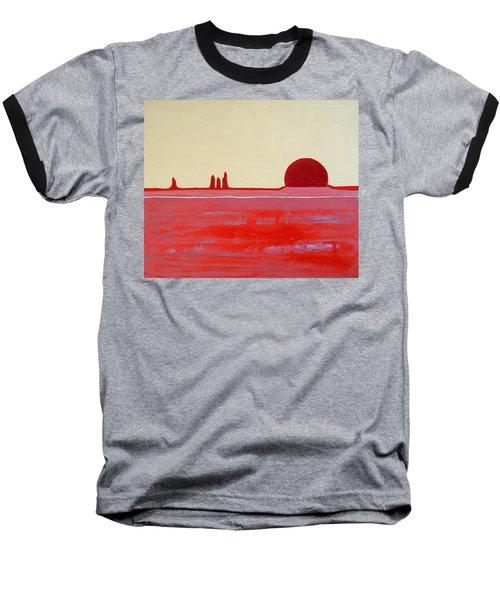 Hoodoo Sunrise Original Painting Baseball T-Shirt
