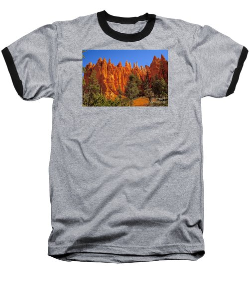 Hoodoos Along The Trail Baseball T-Shirt by Robert Bales
