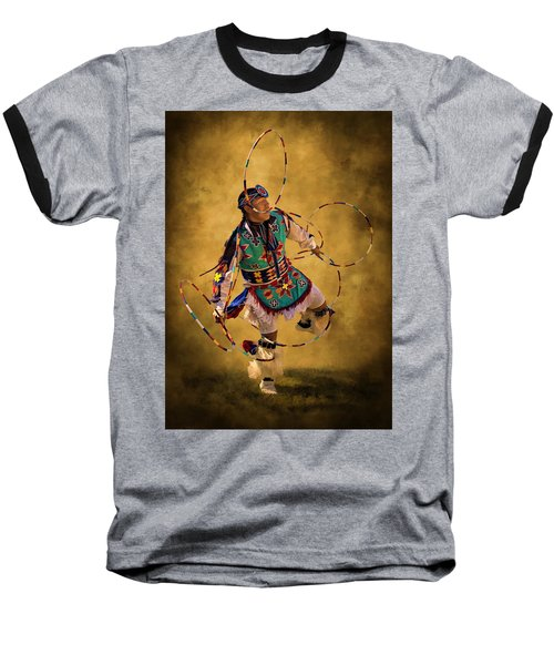 Hooping His Heart Out Baseball T-Shirt by Priscilla Burgers