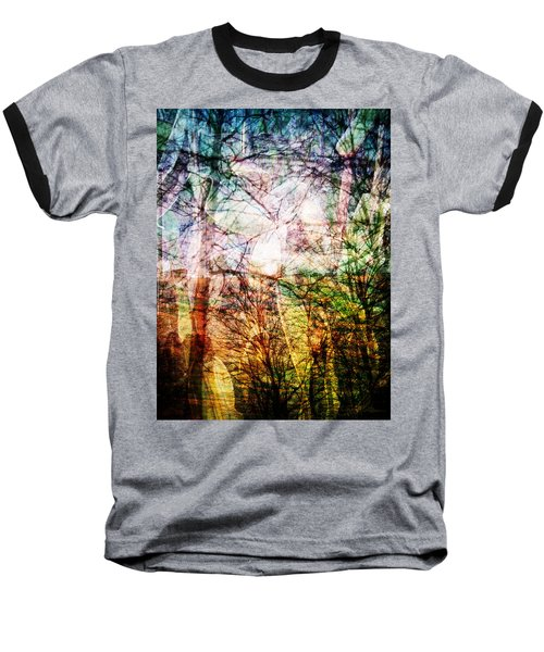 Baseball T-Shirt featuring the mixed media Hoosier Country Opus 1 by Sandy MacGowan