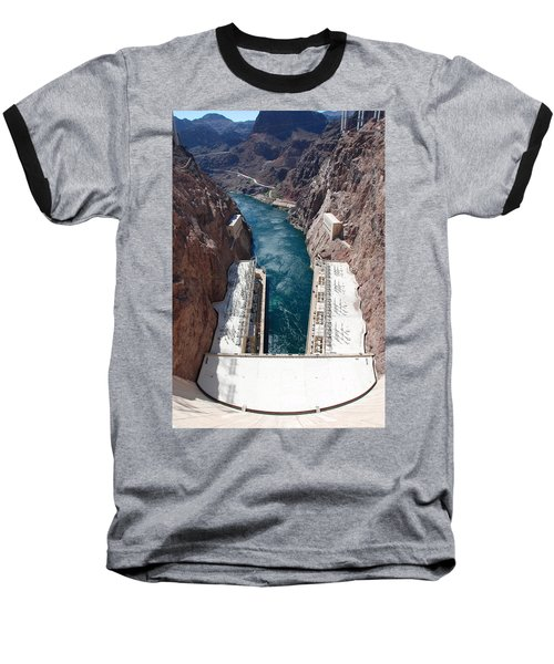 Hoover Dam Black Canyon Baseball T-Shirt by John Schneider