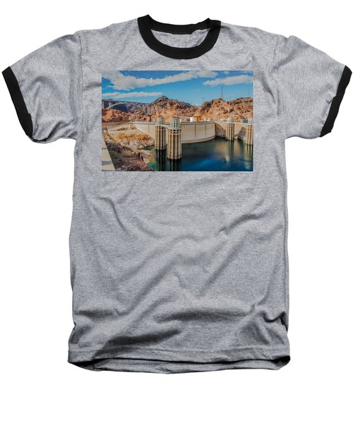 Hoover Dam Reservoir Baseball T-Shirt