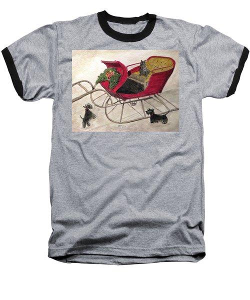 Hoping For A Sleigh Ride Baseball T-Shirt