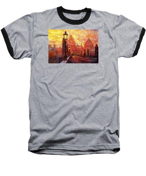 Horizontal Flip Baseball T-Shirt by Ryan Fox