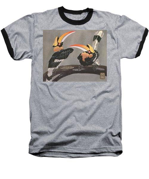 Hornbills Baseball T-Shirt by Ethleen Palmer
