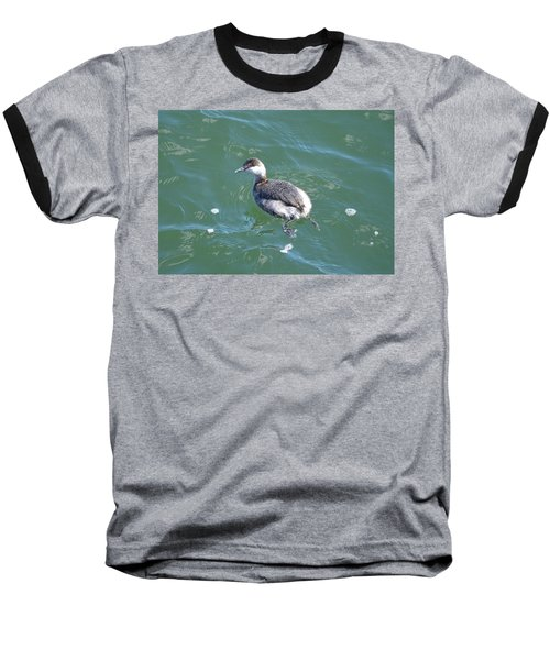 Horned Grebe Baseball T-Shirt