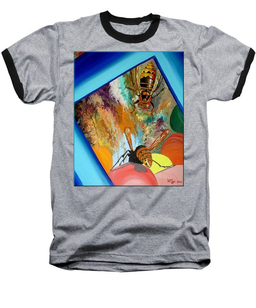 Baseball T-Shirt featuring the painting Hornets by Daniel Janda