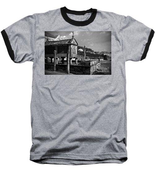Horreo And Cruceiro In Galicia Bw Baseball T-Shirt