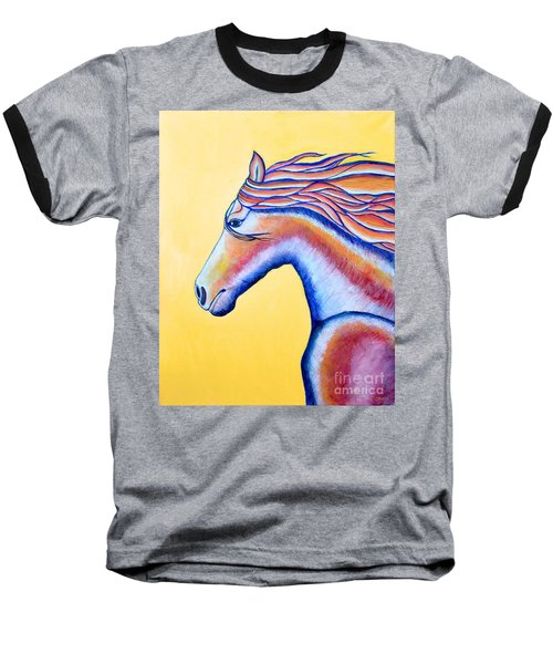 Baseball T-Shirt featuring the painting Horse 1 by Joseph J Stevens