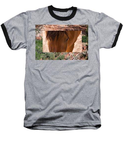 Horse And Canyon Baseball T-Shirt