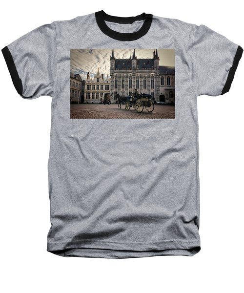 Horse And Carriage Baseball T-Shirt