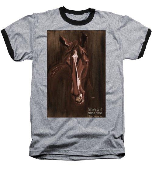 Horse Apple Warm Brown Baseball T-Shirt