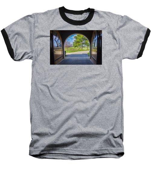 Horse Barn Baseball T-Shirt