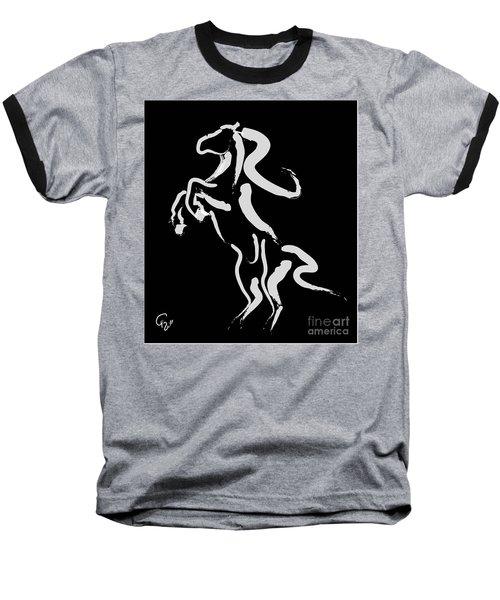 Horse -black And White Beauty Baseball T-Shirt