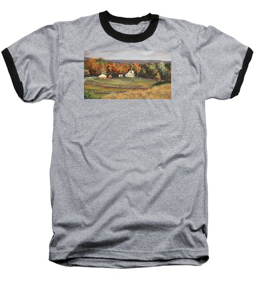 Horse Farm Baseball T-Shirt