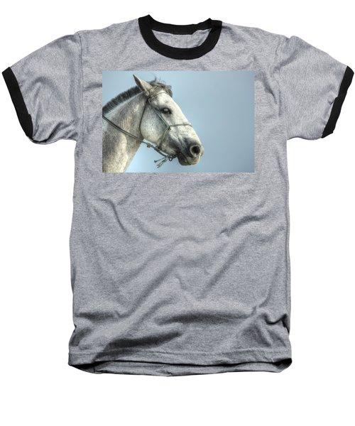 Baseball T-Shirt featuring the photograph Horse Head-shot by Eti Reid