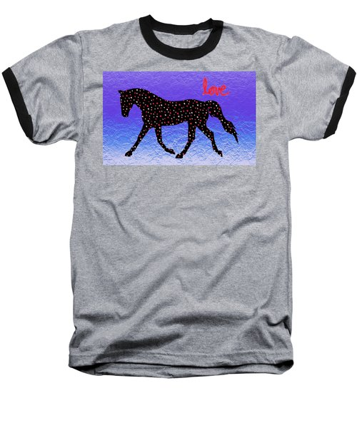 Horse Hearts And Love Baseball T-Shirt
