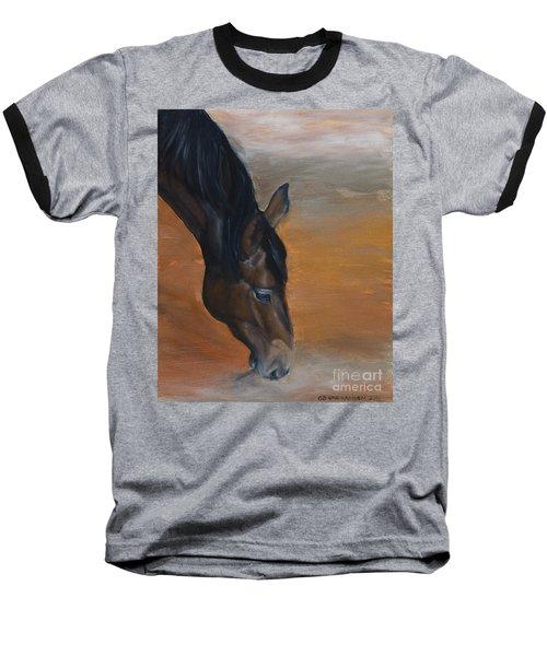 horse - Lily Baseball T-Shirt