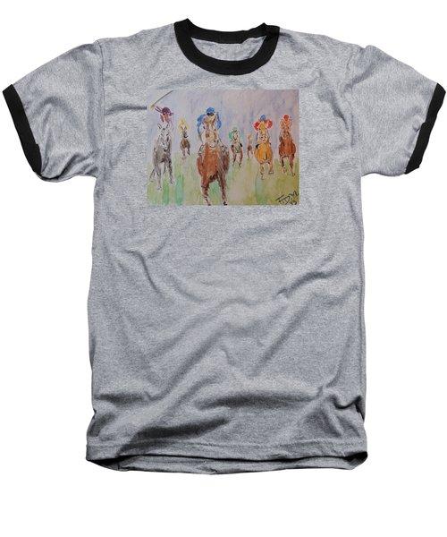 Horse Race Baseball T-Shirt