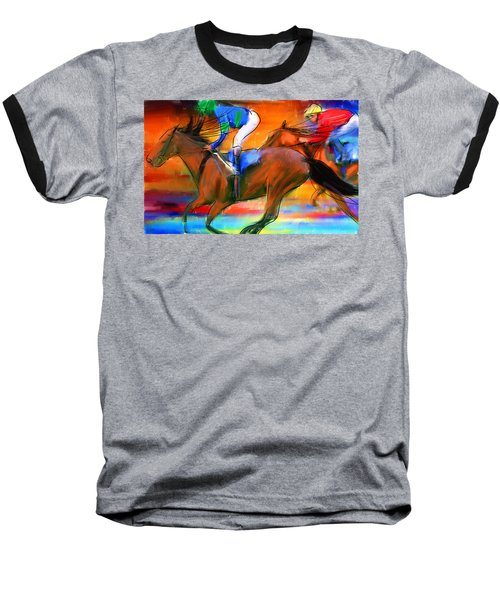 Horse Racing II Baseball T-Shirt