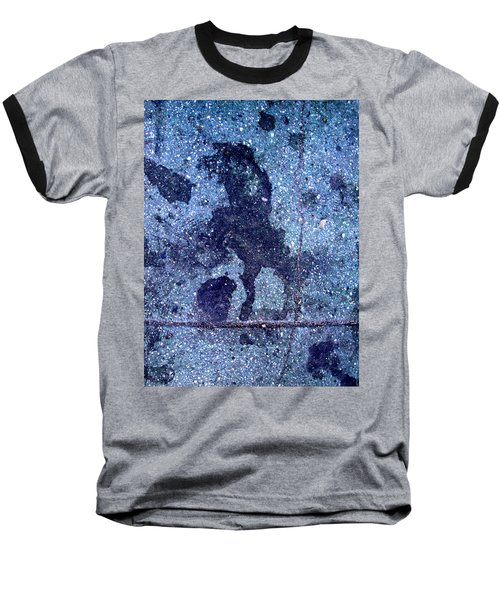 Horse Smashing Evil On Skid Row Baseball T-Shirt