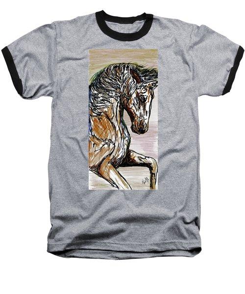 Horse Twins I Baseball T-Shirt