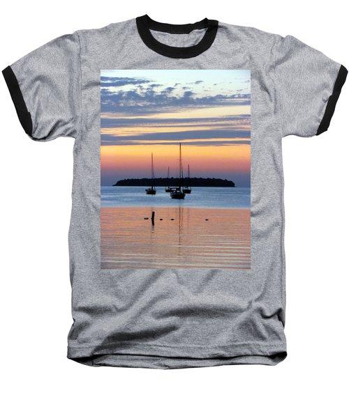 Horsehoe Island Sunset Baseball T-Shirt