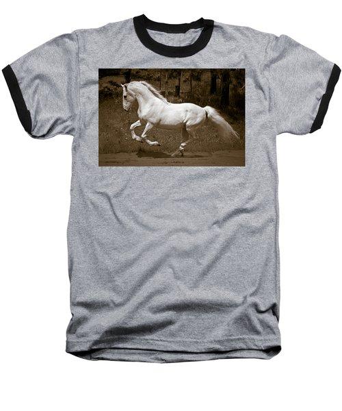 Horsepower Baseball T-Shirt by Wes and Dotty Weber