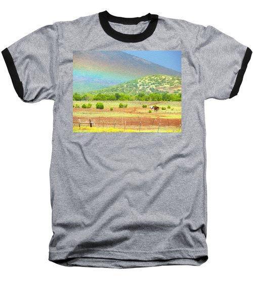 Horses At The End Of The Rainbow Baseball T-Shirt
