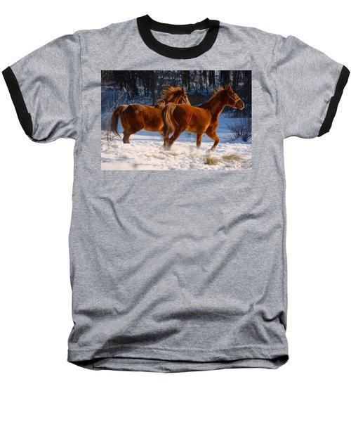 Horses In Motion Baseball T-Shirt